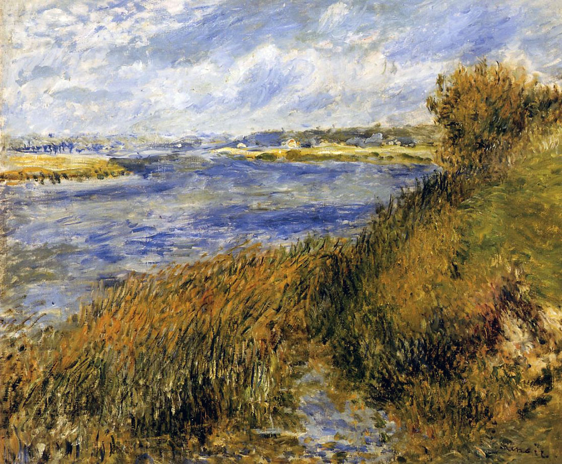 Banks of the Seine at Champrosay by Pierre-Auguste Renoir