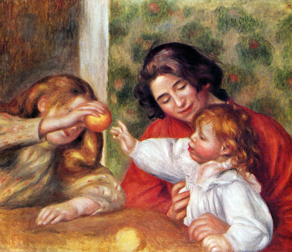 Gabrielle with Jean and Little Girl by Pierre-Auguste Renoir