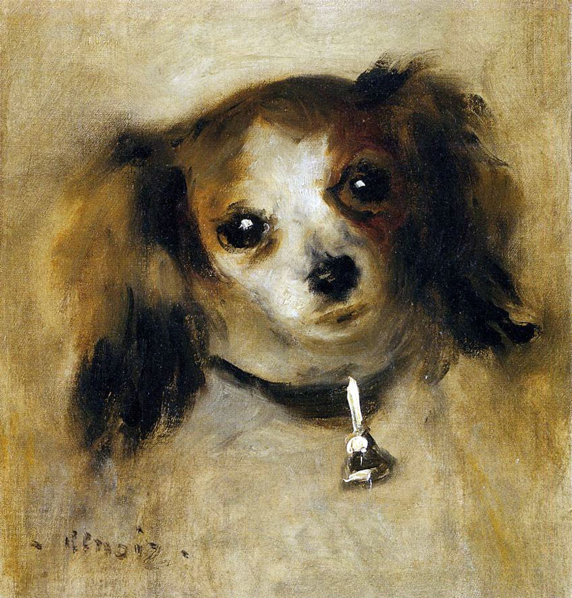 Head of a Dog by Pierre-Auguste Renoir