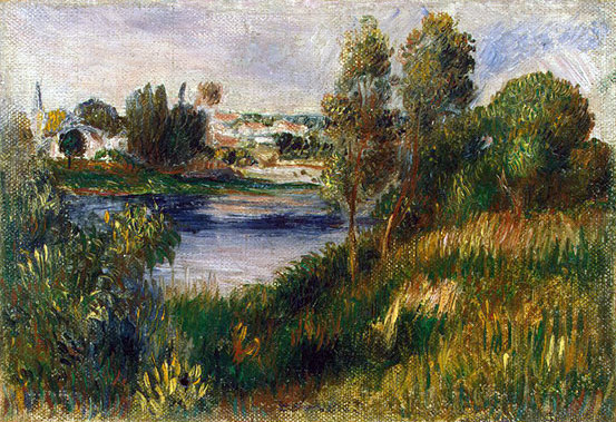 Landscape at Vétheuil by Pierre-Auguste Renoir