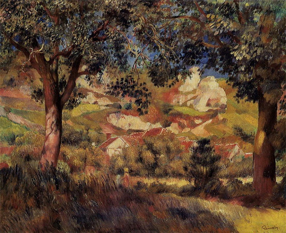 Lanscape in La Roche-Guyon by Pierre-Auguste Renoir