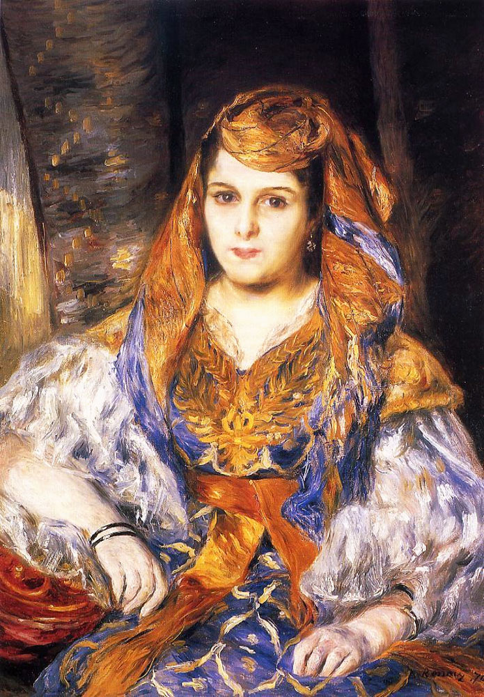 Madame Clementine Stora in Algerian Dress by Pierre-Auguste Renoir