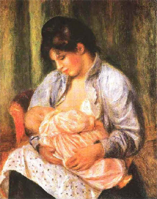 Mother and Child by Pierre-Auguste Renoir