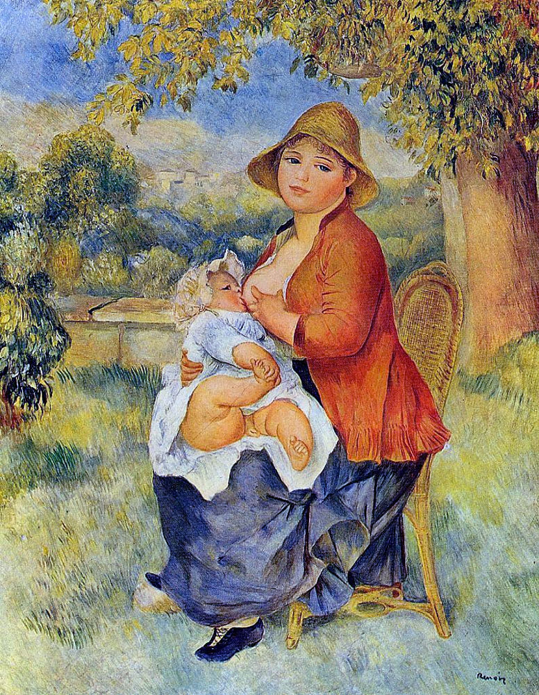 Mother and child by pierre auguste renoir