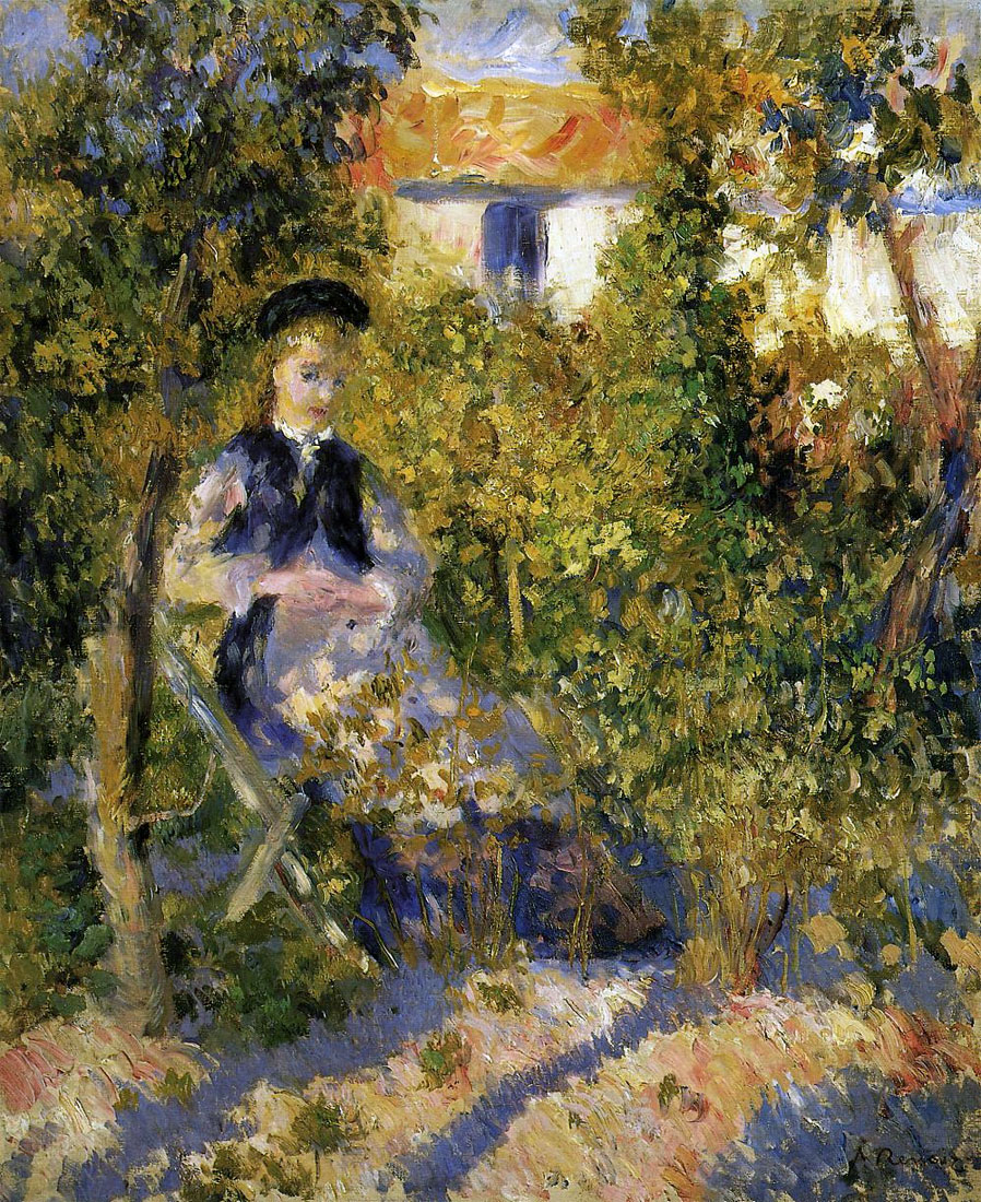 Nini in the Garden by Pierre-Auguste Renoir