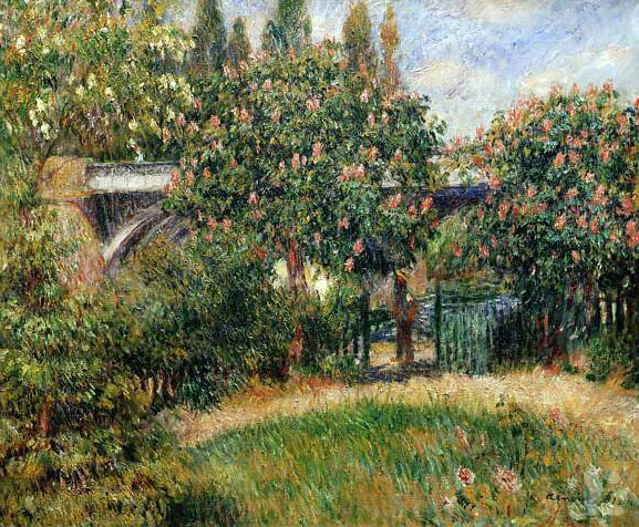 Railway Bridge at Chatou by Pierre-Auguste Renoir