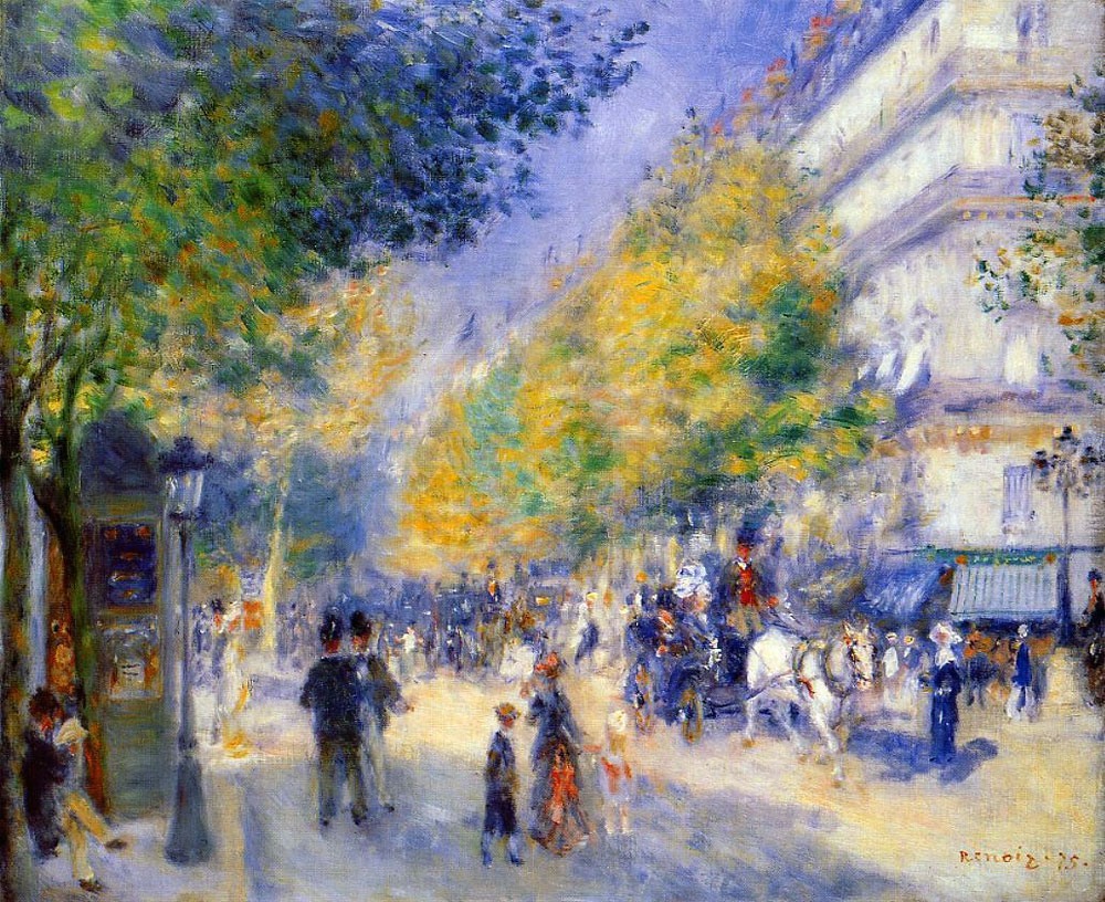The Great Boulevards by Pierre-Auguste Renoir