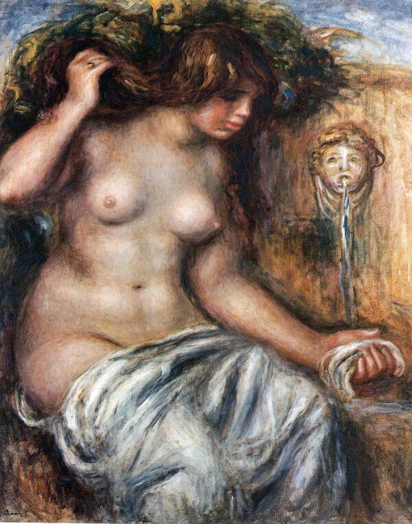 Woman at the Fountain by Pierre-Auguste Renoir