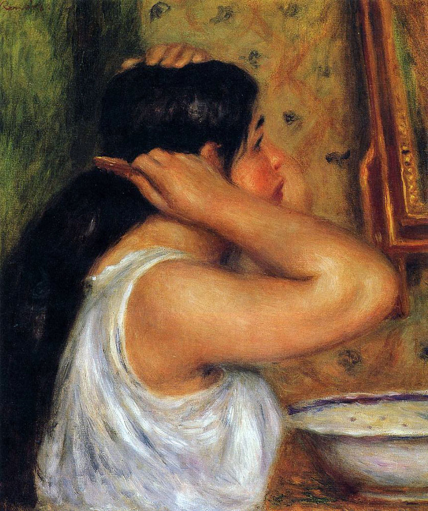 Woman Combing Her Hair by Pierre-Auguste Renoir