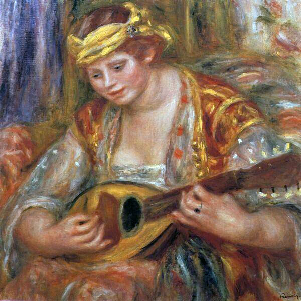 Woman with a Mandolin by Pierre-Auguste Renoir