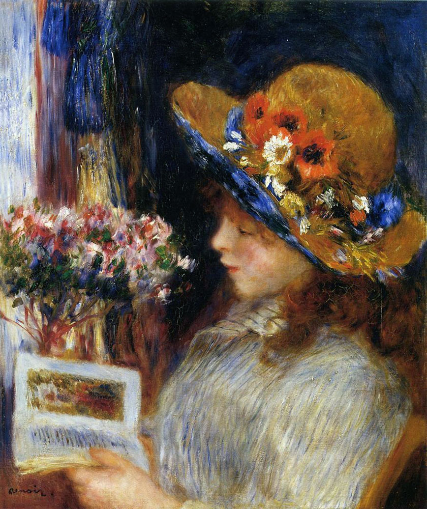 Young Girl Reading by Pierre-Auguste Renoir