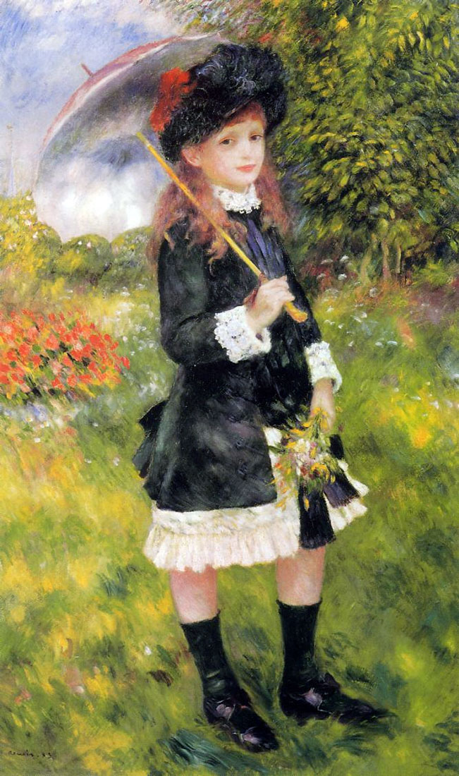 Young Girl with a Parasol by Pierre-Auguste Renoir