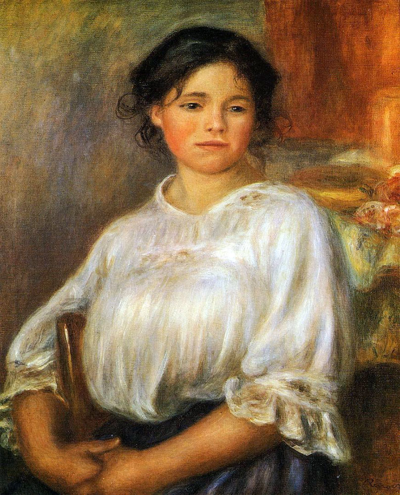 Young Woman Seated by Pierre-Auguste Renoir