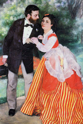 Alfred Sisley and his Wife by Pierre-Auguste Renoir