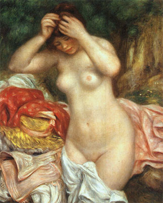 Bather Arranging her Hair by