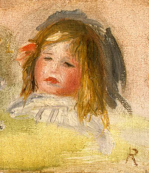 Child with Blond Hair by Pierre-Auguste Renoir