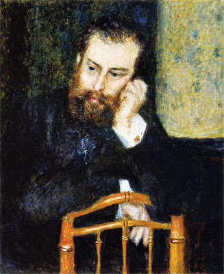 Portrait of Alfred Sisley by Pierre-Auguste Renoir