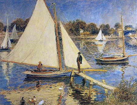 Sailboats at Argenteuil by Pierre-Auguste Renoir