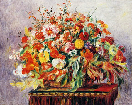 Still Life with Flowers (Basket of Flowers) by Pierre-Auguste Renoir