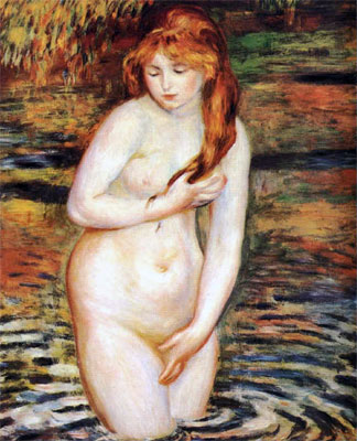 The Bather (After the Bath) by Pierre-Auguste Renoir