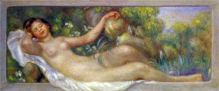 The Spring (Reclining Nude) by Pierre-Auguste Renoir