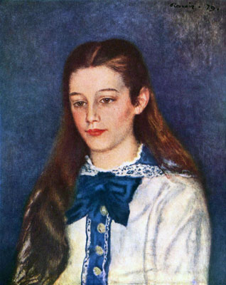 Therese Berard (Portrait de Th�r�se B�rard) by Pierre-Auguste Renoir
