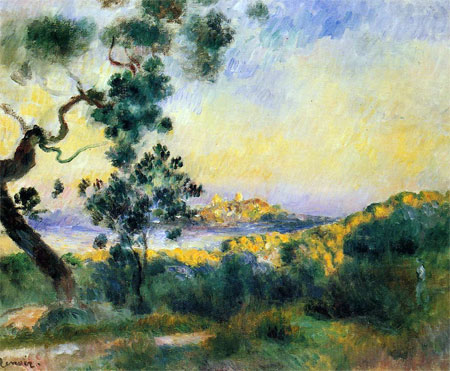 View of Antibes by Pierre-Auguste Renoir