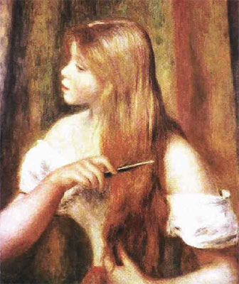 Young Girl Combing Her Hair by Pierre-Auguste Renoir