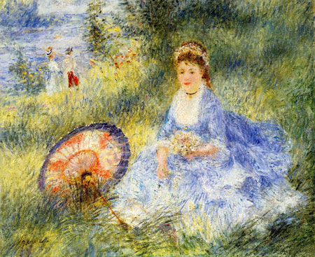 Young Woman with a Japanese Umbrella by Pierre-Auguste Renoir