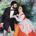 Alfred Sisley and his Wife (1868) by Pierre-Auguste Renoir