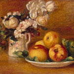 Apples and Flowers (1896) by Pierre-Auguste Renoir