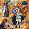 At the Luxembourg Gardens (1883) by Pierre-Auguste Renoir