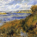 Banks of the Seine at Champrosay (1876) by Pierre-Auguste Renoir