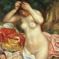Bather Arranging her Hair (1893) by Pierre-Auguste Renoir