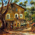 House in Collett at Cagnes (1912) by Pierre-Auguste Renoir