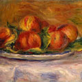 PeachesonaPlate (1905) by Pierre-Auguste Renoir