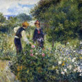 Picking Flowers (1875) by Pierre-Auguste Renoir