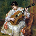 Woman Playing the Guitar (1897) by Pierre-Auguste Renoir