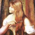 Young Girl Combing Her Hair (1894) by Pierre-Auguste Renoir