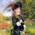 Young Girl with a Parasol (1883) by Pierre-Auguste Renoir