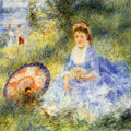 Young Woman with a Japanese Umbrella (1876) by Pierre-Auguste Renoir